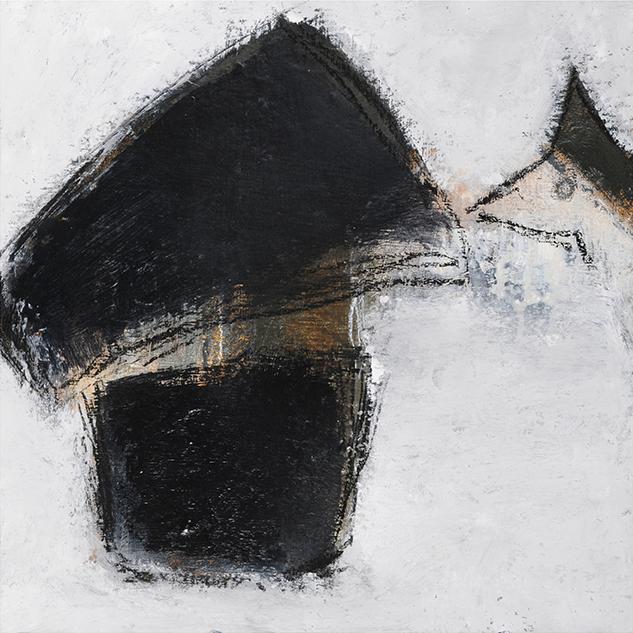 Georges, 27,5 x 28 cm, techniques mixtes sur toile, 2015