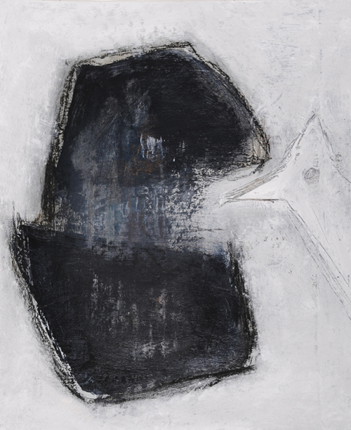 La Tanière Bleue, 33 x 27 cm, techniques mixtes sur toile, 2015