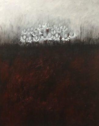 -La Bataille des Anges, techniques mixtes sur toile, 80 X 120 cm, 2017